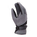 Allfond men winter thermal outdoor sport cold-proof ski motorcycle riding velvet leather Gloves - Grey