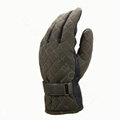 Allfond men winter warm outdoor sport windproof ski motorcycle riding buckle Suede Gloves - Brown