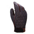 Allfond men winter warm outdoor sport windproof ski motorcycle riding buckle Suede Gloves - Coffee