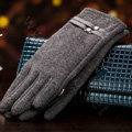 Allfond women touch screen gloves stretch cotton winter warm business casual crystal gloves - Gray