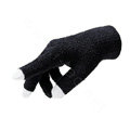 Allfond women touch screen gloves stretch winter warm unisex cashmere gloves - Black