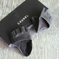 Women Genuine Leather Lambskin Runway Punk Rocker Biker Fingerless Half Short Gloves - Black