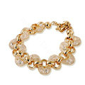 18k Rose Gold Plated Bracelets Bangles for Women champagne gold wire Zircon Crystal Jewelry