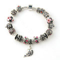 925 Silver Charm Bracelets for Women Flower fish Crystal Murano Glass Beads Jewelry