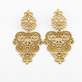 Unique Hollow Alloy Flower Stud Earrings Gold Plated Women Fashion Jewelry