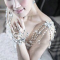 Hot Sell Pearl Crystal Wedding Bridal Shoulder Chain Strap Shawl Necklace jewelry