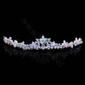 Hot Sell Bride Multicolor Flower Rhinestone Crystal Bridal Hair Crowns Tiaras Wedding Accessories