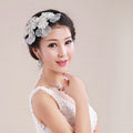 Elegant Bride Jewelry Crystal Lace Flower Bridal Hair band Hairpin Barrette Wedding Accessories