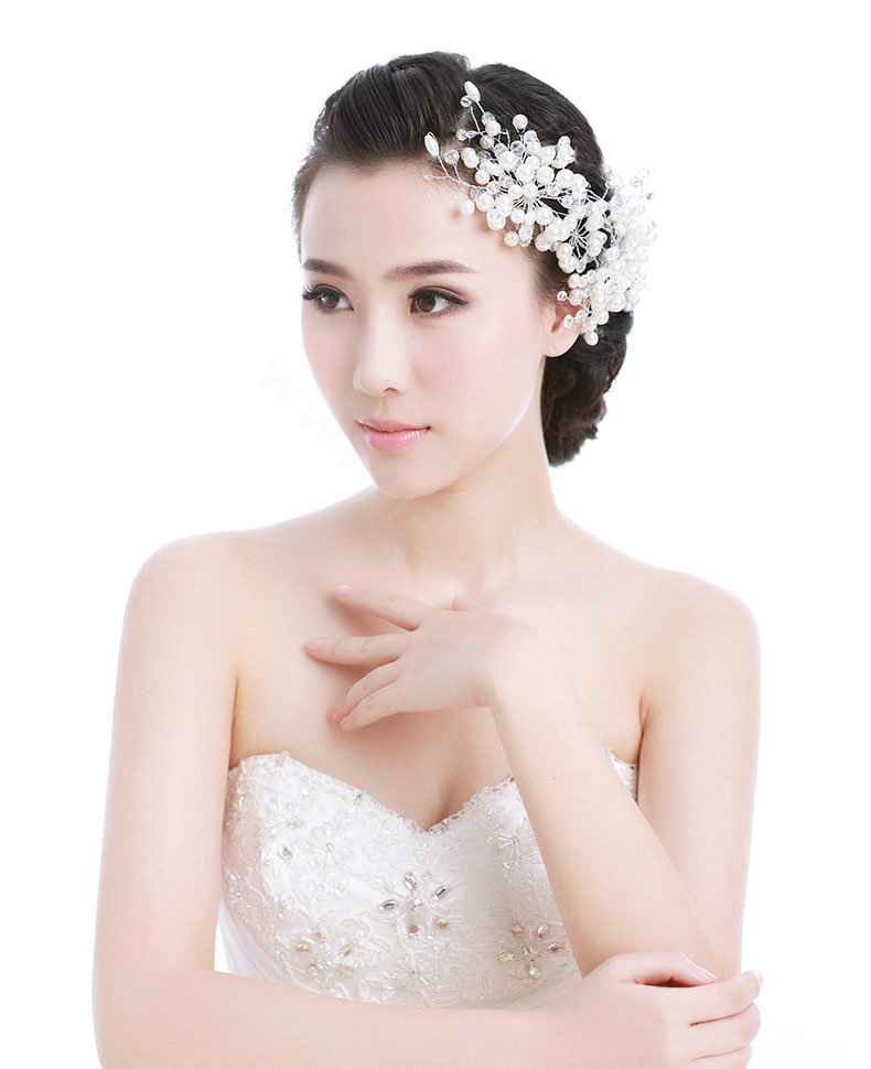 Wedding Hairstyles With Jewels: Buy Wholesale Luxury Bride Jewelry Pearl Crystal Bead