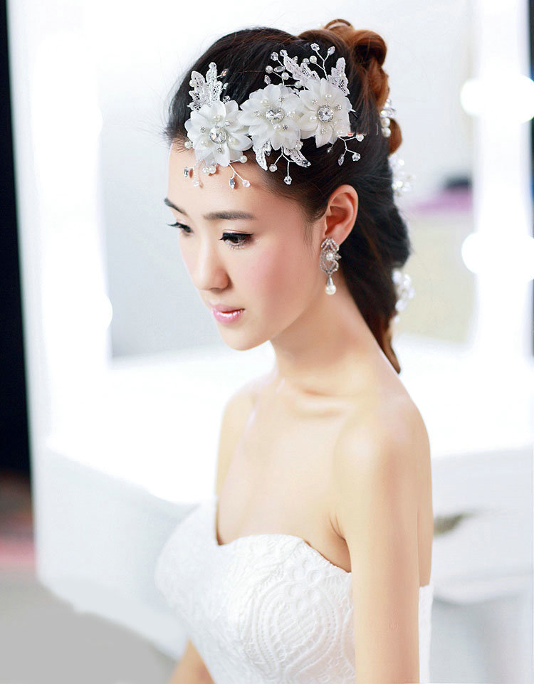 Buy wholesale pretty bride jewelry lace flower pearl for Where to buy wedding accessories