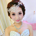 Top Quality Bride Jewelry Flower Crystal Bead Bridal Hair Headband Headpiece Wedding Accessories