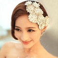 Banquet Rhinestone Lace Flower Hairwear Wedding Bride Headband Bridal Hair Accessories