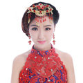 Classic Bride Rhinestone Butterfly Tassel Hair Comb Claw Cheongsam Wedding Bridal Hair Accessories