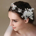 Classic Rhinestone Pearl Lace Flower Hairwear Wedding Bride Headband Bridal Hair Accessories