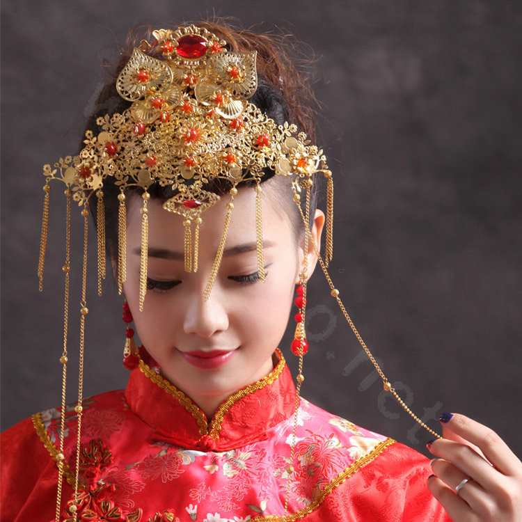 Buy Wholesale Elegant Bride Chinese style Costume Tassel Phoenix