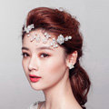 Elegant Flower Pearls Bridal Hairwear Jewelry Wedding Dress Bride Headband Hair Accessories