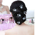 Elegant Pearl Crystal Matte Flower Wedding Bride U Shape Hair Clip Comb Fork Bridal Party Hair Accessories