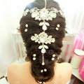 Luxury Raindrop Crystal Flower Wedding Bride Headband Bridal Party Hair Clip Comb Accessories