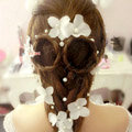 Pearl Flower Handmade Hairwear Wedding Bride Headband Bridal Hair Accessories