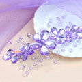 Plum flower Purple Crystal Bead Hairwear Wedding Bride Headband Bridal Party Dress Hair Accessories