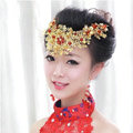 Vintage Bride Agate Beads Flower Hairwear Cheongsam Wedding Headband Bridal Hair Accessories