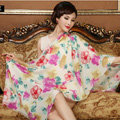 Classic Beautiful Floral Printing Wool Scarf Shawls Women Long Warm Pashmina Cape - Rose