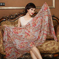 Classic Beautiful Leopard Printing Wool Scarf Shawls Women Long Warm Pashmina Cape - Coffee