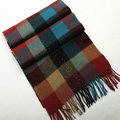 Fashion England Lattice Long Wool Scarf Man Winter Thicken Cashmere Tassels Muffler - Multicolour