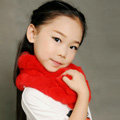 High Quality Kids Knitted Rex Rabbit Fur Scarf Children Winter Thicken Baby Fur Collar - Red