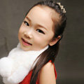 High Quality Kids Knitted Rex Rabbit Fur Scarf Children Winter Thicken Baby Fur Collar - White