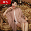 High Quality Solid Color Wool Scarf Shawls Women Winter Long Warm Pashmina Cape - Camel