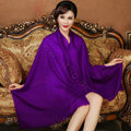 High Quality Solid Color Wool Scarf Shawls Women Winter Long Warm Pashmina Cape - Purple