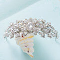 Classic Retro Wedding Jewelry Flower Crystal Tiaras Bridal Crown Rhinestone Hair Hoop Accessories
