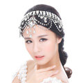 Classic Wedding Jewelry Flower Crystal Tassel Headband Tiaras Bridal Rhinestone Hair Accessories