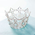 Classic Wedding Jewelry small Ring Crystal Tiaras Bridal Rhinestone Crown Hair Accessories
