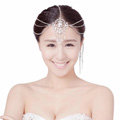 Elegant Wedding Bohemia Headdress Jewelry Crystal Beads Tassel Bridal Headband Hair Accessories