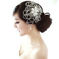 Elegant Wedding Headdress Jewelry Hollow Flower Crystal Beads Bridal Headband Hair Accessories