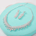 High Quality Fashion Wedding Jewelry Sets Crystal Bead Stud Earrings & Bridal Necklace