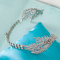 Luxury Antique Wedding Jewelry Leaf Crystal Tiaras Bridal Rhinestone Hair Hoop Accessories