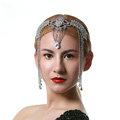 Luxury Retro Wedding Jewelry Flower Crystal Tassel Tiaras Bridal Crown Rhinestone Accessories