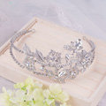 Luxury Retro Wedding Jewelry Flower Crystal Tiaras Bridal Crown Rhinestone Hair Hoop Accessories
