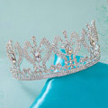 Luxury Retro Wedding Jewelry Large Crystal Tiaras Bridal Rhinestone Crown Hair Accessories