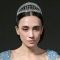 Luxury Retro Wedding Jewelry Water-drop Crystal Beads Tiaras Bridal Crown Rhinestone Accessories