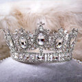 Luxury Wedding Jewelry Crystal White Large Ring Tiaras Bridal Rhinestone Crown Hair Accessories