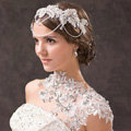Luxury Wedding Jewelry Sets Earrings & Bridal Crystal Lace Embroidery Necklace Shoulder Accessories