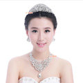 Luxury Wedding Jewelry Sets for Bridal Crystal Peacock Tiara & Earrings & Rhinestone Necklace