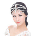 Luxury Wedding Jewelry Water-drop Tassel Crystal Tiaras Bridal Headband Rhinestone Hair Accessories