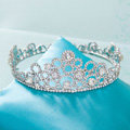 Unique Elegant Wedding Jewelry Crystal Large Ring Tiaras Bridal Rhinestone Crown Hair Accessories