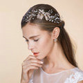 Elegant Bridal Wedding Rhinestone Alloy Flower Crystal Bead Bride Headband Hair Comb Accessories