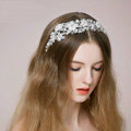 Elegant Bridal Wedding Rhinestone Alloy Pearl Flower Crystal Bead Bride Headband Hair Hoop Accessories